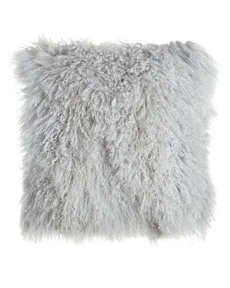 Massoud Fog Gray Tibetan Lamb Pillow