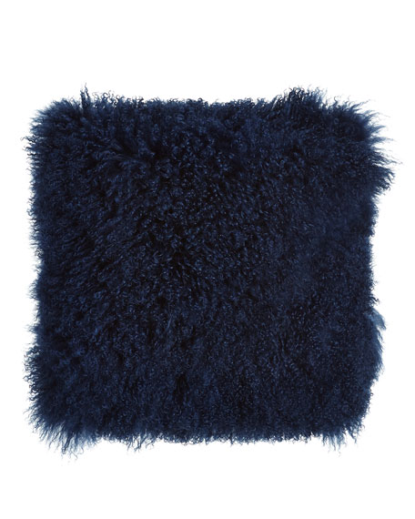 Indigo Tibetan Lamb Pillow