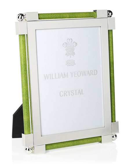 "William Yeoward 5"" X 7"" Shagreen Lime Green Frame"