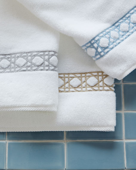 Matouk Cane-Embroidered Hand Towel