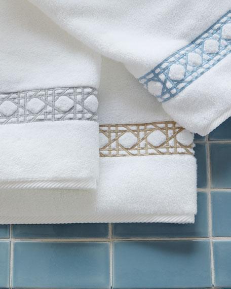 Matouk Cane-Embroidered Bath Towels