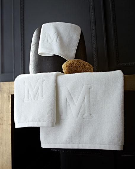 Auberge Monogrammed Fingertip Towel