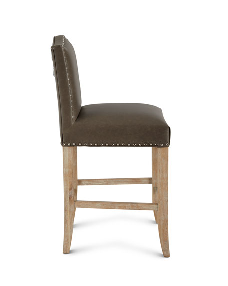 Cole Leather Counter Stool