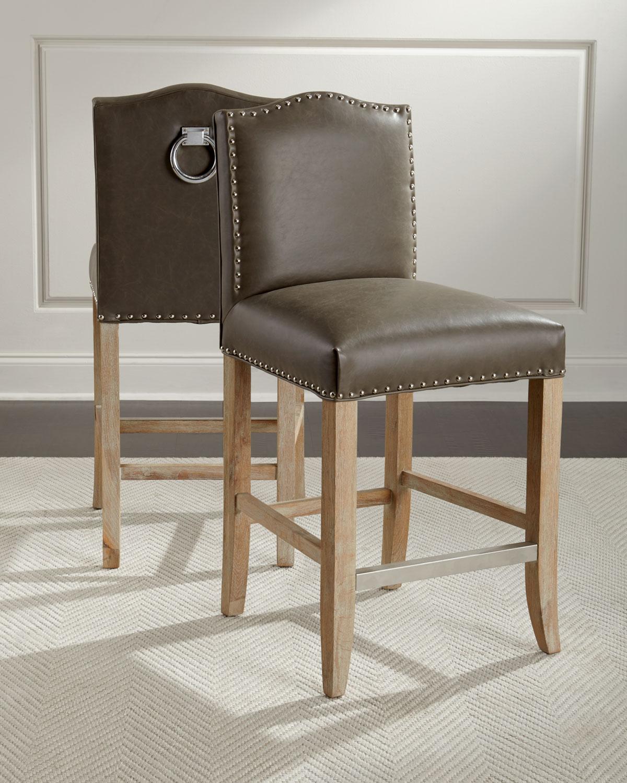 Enjoyable Cole Leather Counter Stool Dailytribune Chair Design For Home Dailytribuneorg