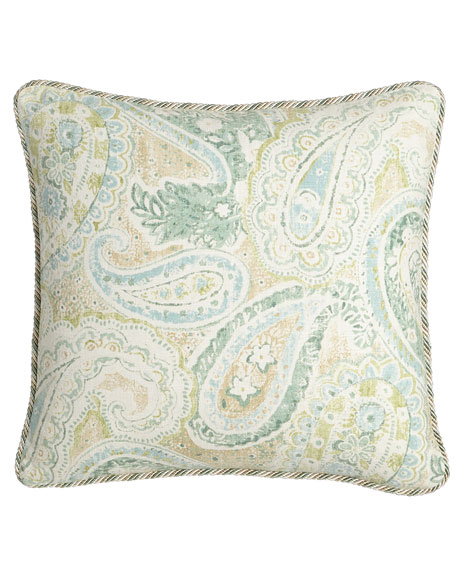 "Bliss Paisley Pillow, 18""Sq."