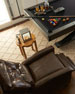Image 2 of 5: Hudson Tufted Leather Recliner, Brown