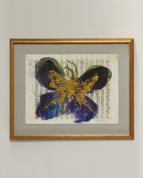 Abstract Butterfly Giclee on Canvas Wall Art
