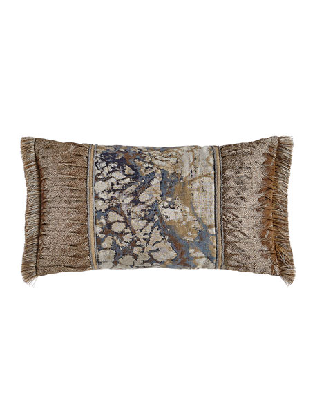 "Dian Austin Couture Home Jupiter Pieced Pillow, 13"" x 24"""