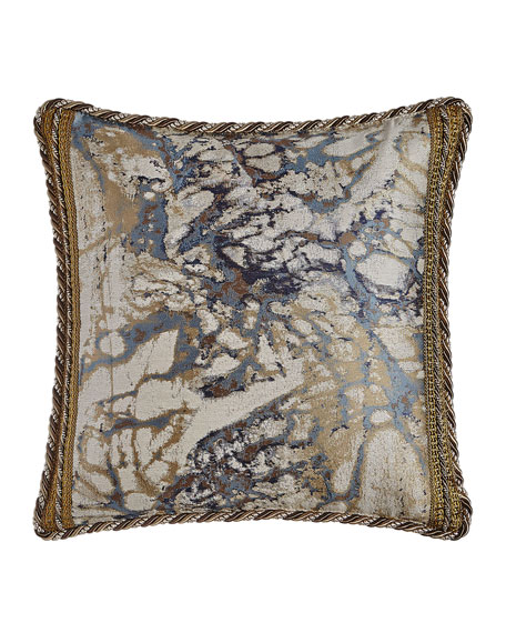 "Dian Austin Couture Home Jupiter Reversible Pillow, 19""Sq."