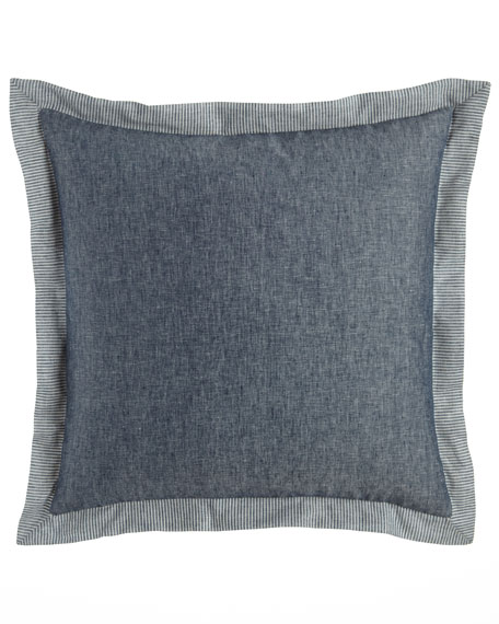Sweet Dreams European Maze Chambray Blue Sham
