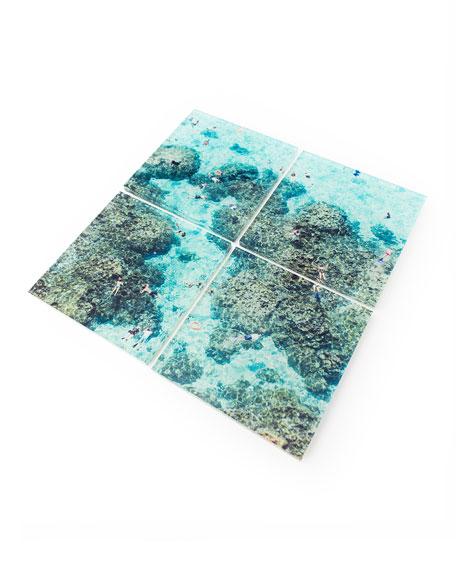 Gray Malin Reef Coasters, Set of 4