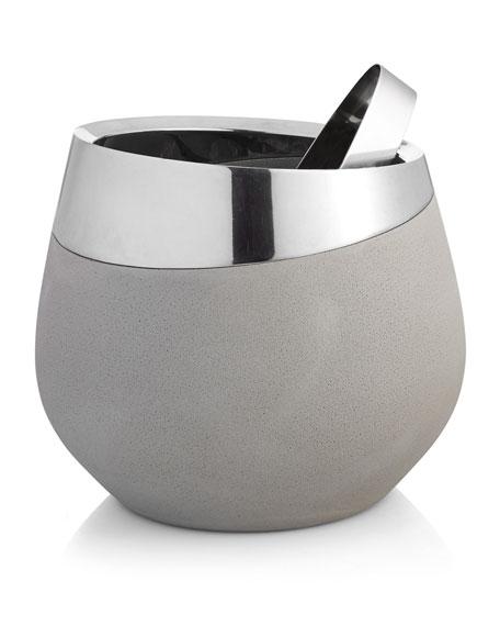 Nambe Forte Ice Bucket & Tongs