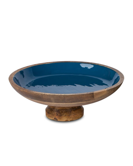 G G Collection Deep Blue Wood & Enamel