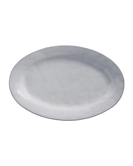 "Juliska Quotidien White Truffle 21"" Oval Platter"