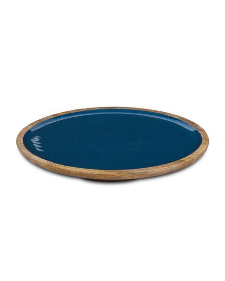 G G Collection Deep Blue Wood & Enamel
