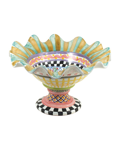 MacKenzie-Childs Taylor Fluted Compote