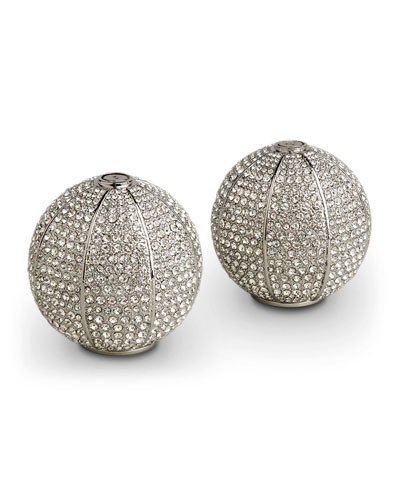Platinum/Crystal Sphere Salt & Pepper Shakers