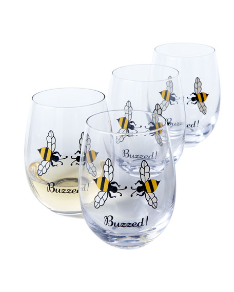 August Morgan Buzzed! Wine Glasses, Set of 4