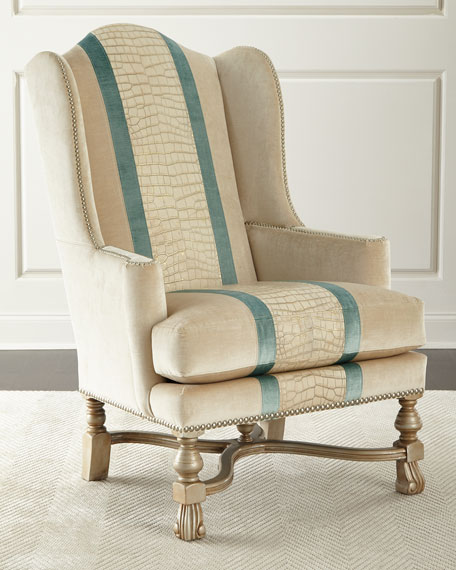 Bacall Colorblock Wingback Chair