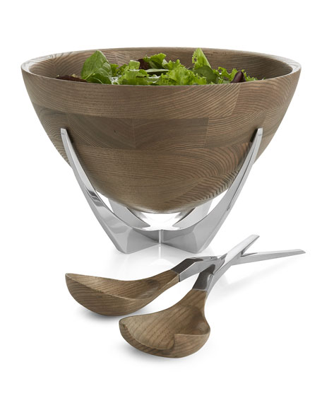 Nambe Cabo Salad Bowl and Servers