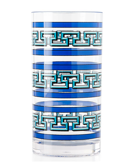 Jonathan Adler Blue Mykonos Acrylic Glassware