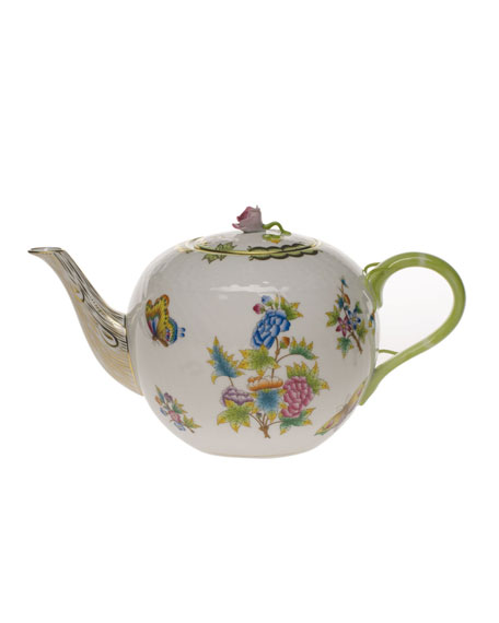 Herend Queen Victoria Teapot with Rose Finial