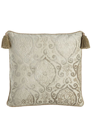 Austin Horn Collection Chateau European Sham with Tassels, Oyster