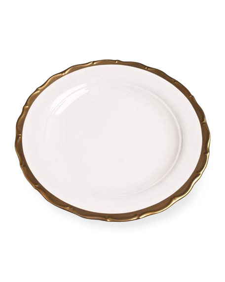 Anna Weatherley Golden Patina Charger Plate