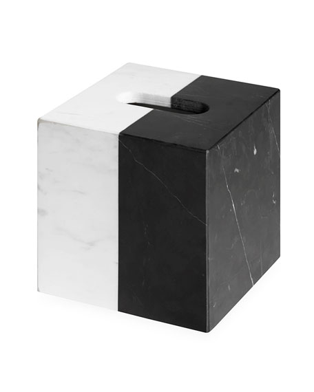Canaan Marble Tissue Box Cover
