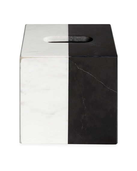 Jonathan Adler Canaan Marble Tissue Box Cover