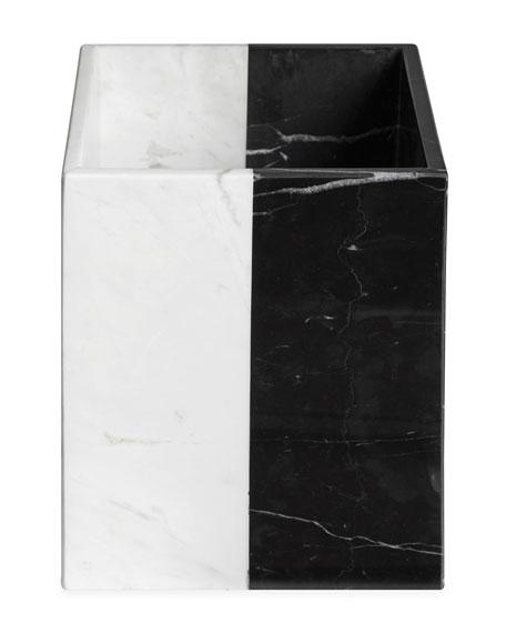 Canaan Marble Wastebasket