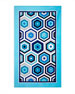 Honeycomb Beach Towel, Blue