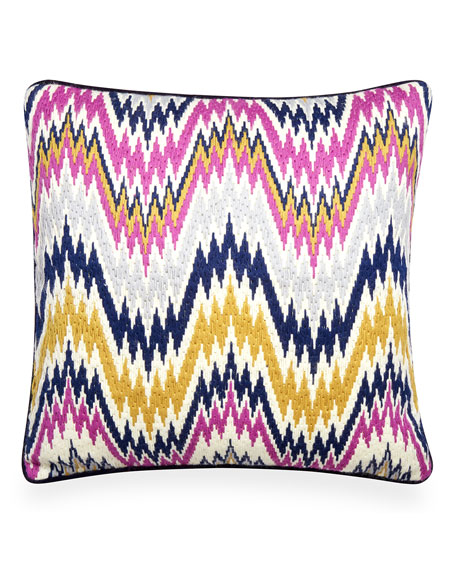 Jonathan Adler Lavender Worth Avenue Bargello Pillow and