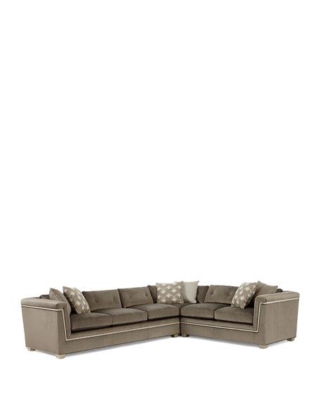 Jenna Tufted Back Sectional Sofa