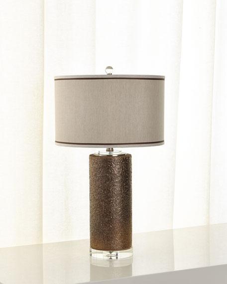 Metallic Crusted Lamp