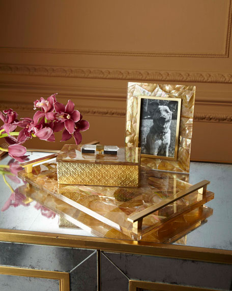 Rectangle Filigree Brass Box