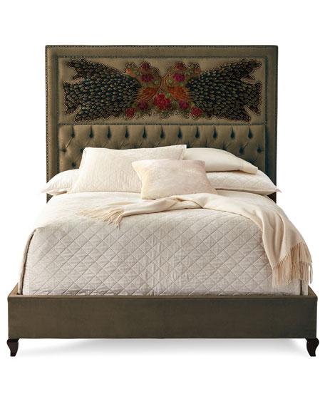 Peacock Sage Bed, Queen
