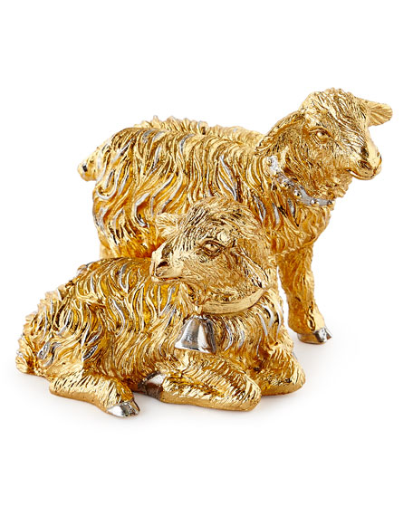 Jay Strongwater Gilded Nativity Sheep Figurine