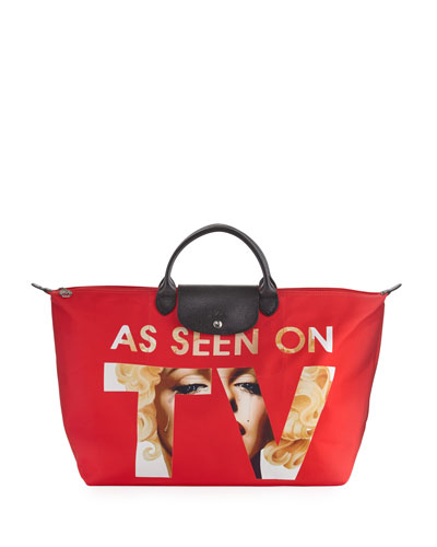 x Jeremy Scott Seen On TV Travel Bag, Red