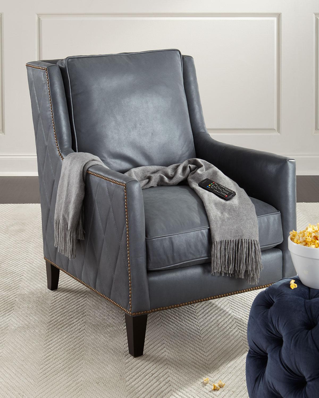 Bernhardt Beatrix Diamond-Tufted Leather Chair | Neiman Marcus