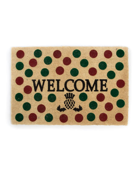 MacKenzie-Childs Holiday Dot Welcome Doormat