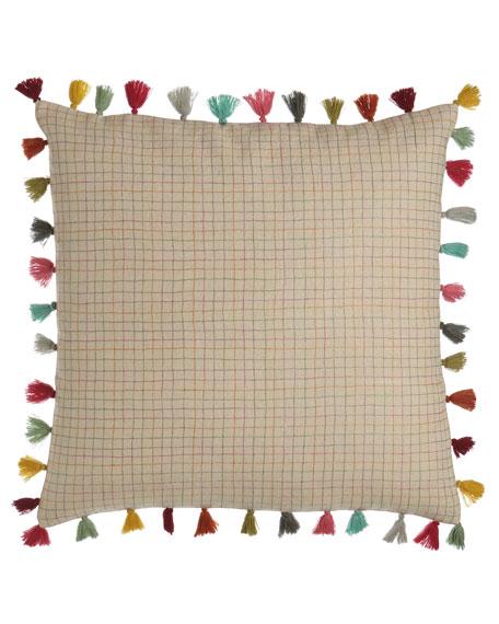 """Borla Pillow with Tassel Fringe, 22""""Sq."""