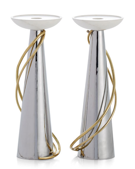 Calla Lily Candleholders, Set of 2