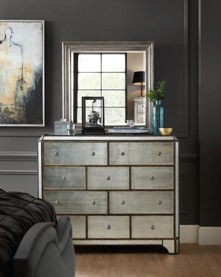 Hooker Furniture Visage Eglomise Mirrored 10-Drawer Chest