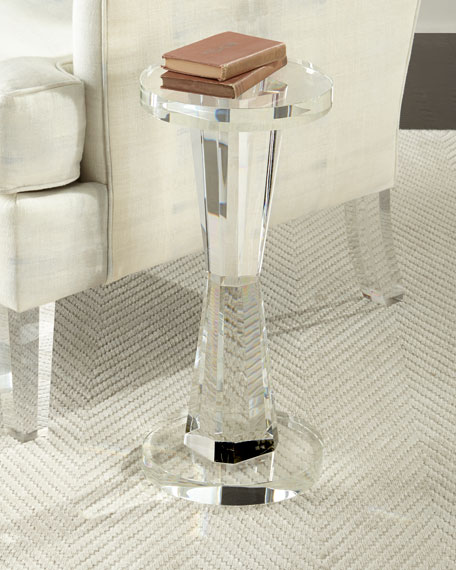 Duchess Cylinder Crystal Side Table