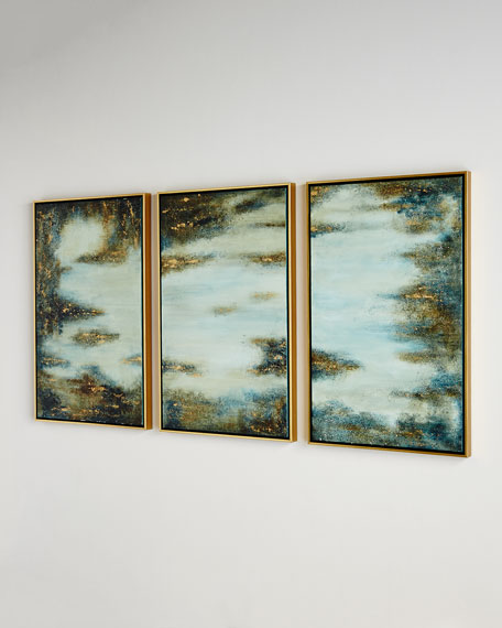"""Begin Again"" Triptych Painting"