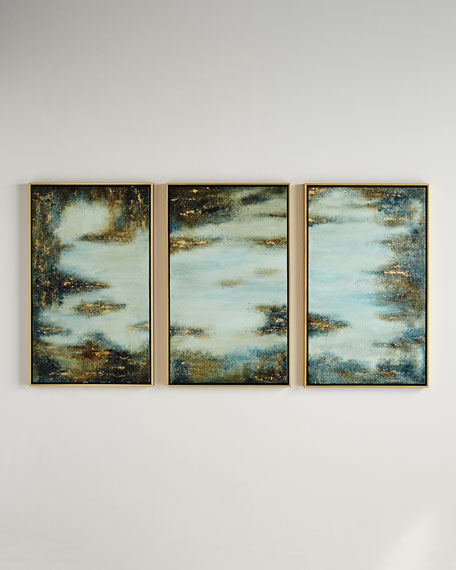 """Fairy Dreams Series"" Triptych Painting"
