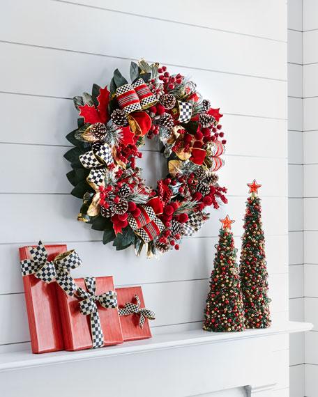 MacKenzie-Childs Tartan Frost Wreath