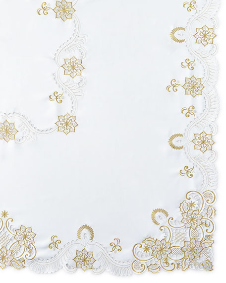 "SFERRA Armina 72"" x 108"" Tablecloth & 12 Napkins"