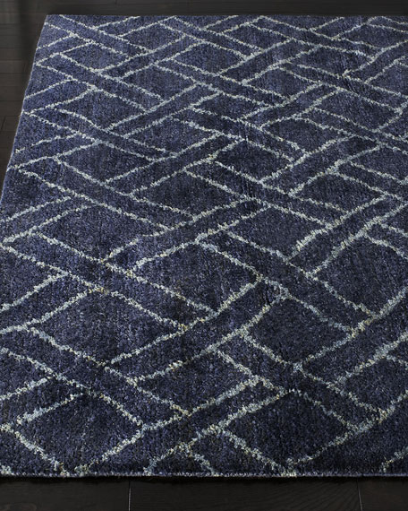 Image 1 of 2: Ralph Lauren Home Fairfield Indigo Rug, 5' x 8'